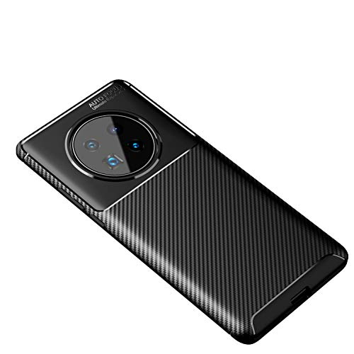 Cruzerlite Custodia Huawei Mate 40 PRO, Cover Huawei Mate 40 PRO, Carbon Fiber Texture Design Cover Anti-Scratch Shock Absorption Case for Huawei Mate 40 PRO (2020) (Carbon Black)