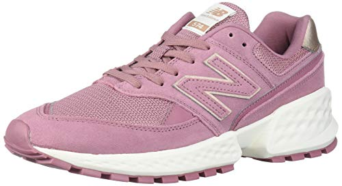 New Balance Women's Fresh Foam 574 Sport V2 Sneaker, Twilight Rose/SEA Salt, 10 B US