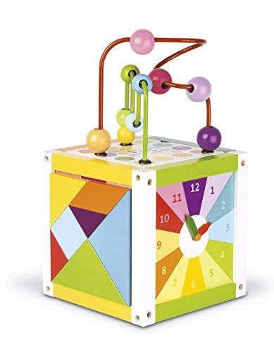 08090   Cubo de juegos para aprendizaje, con puzzle y reloj [Importado de Alemania]