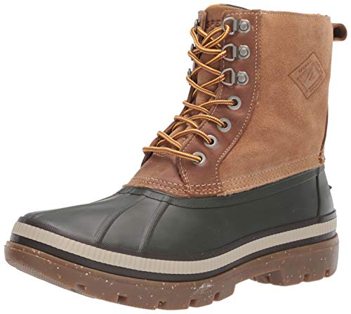 Sperry Mens Ice Bay Boot Boots, Olive/Tan, 9.5
