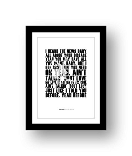 Van HALEN – Ain't Talkin' 'Bout Love – A3 canción tipografía cartel Art edición limitada impresión #79
