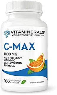 VITAMINERALS ® C MAX Antioxidant Support 1,000 mg Vitamin C, with Bioflavanoids - Veggie Capsules (100 Vegetarian Capsules)