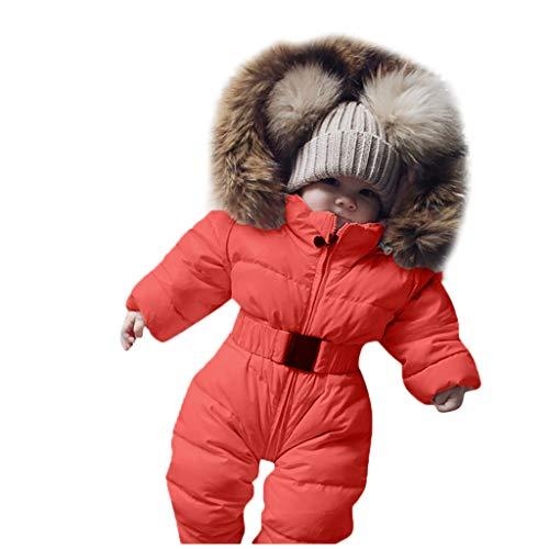 Unisex Baby 1 Stuk Lange Mouw Winter Jas, Baby Jongen Meisje Effen Rits Romper Jumpsuit Dikker Warm Hooded Bovenkleding Outfit Kleding