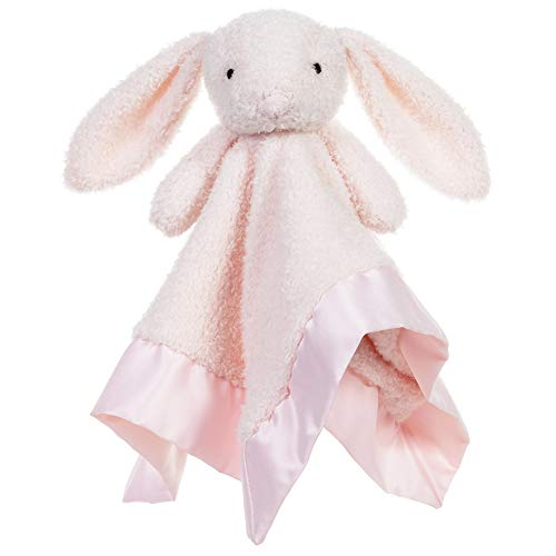 Apricot Lamb Stuffed Animals Pink Bunny Security Blanket Infant Nursery Character Blanket Luxury Snuggler Plush Baby Lovey(Pink Bunny, 13 Inches)