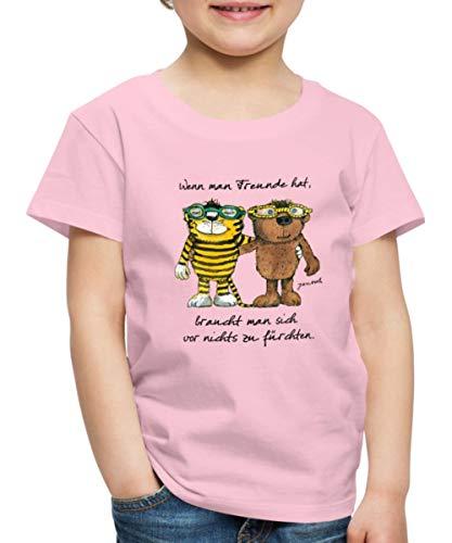 Janosch Tiger Und Bär Wenn Man Freunde Zitat Kinder Premium T-Shirt, 110-116, Hellrosa