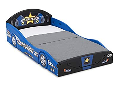 Delta Children Police Car Sleep and Play Toddler Bed with Attached Guardrails