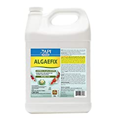 Contains one (1) API POND ALGAEFIX Algae Control 1-Gallon Bottle; treats up to 38,400 U.S Gallons Helps resolve algae problems and controls the formation of new algae; works fast; effectively controls most types of algae including green water (Chlore...