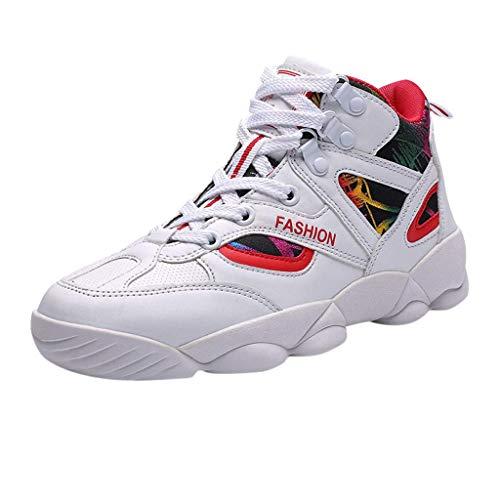 HDUFGJ Unisex Erwachsene Bequem Ultra-Light Laufschuhe Schnürer Turnschuhe Sneakers Modisch Straßenlaufschuhe Sportschuhe