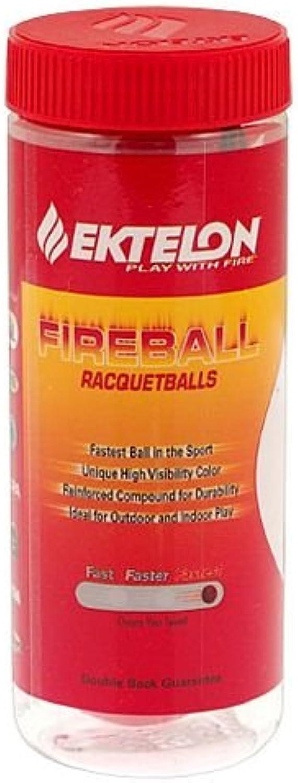 (1)  Ektelon Fireball Racquetballs Red  3 ball can