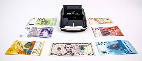 HILTON EUROPE HE360 - Detector Billetes Falsos Euros/Multidivisas - 7 Sistemas de Detección - Detecta Todos los Billetes de EURO/USD/GBP, etc - 100% Fiable testado Banco Central Europeo