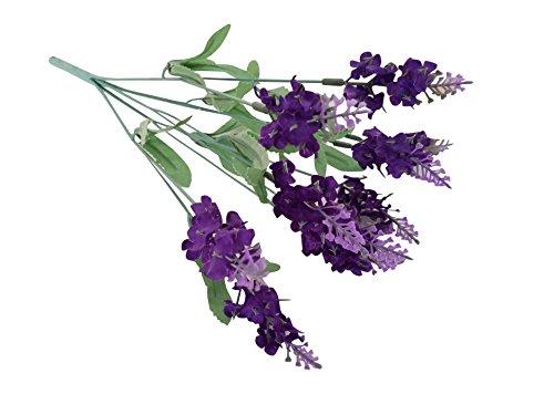 10 Stück Kunstblumen Künstliche Dekorativer Blumenstrauß aus künstlichem Lavendel Blumenbukett zur Heimdekoration Home Decor Dunkel Lila