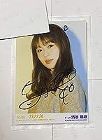 48 渋谷凪咲 生写真 直筆サイン 11月23日パシフィコ横浜個別当選品