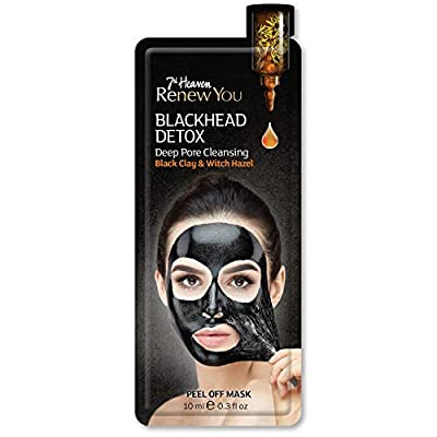 7th Heaven Renew You Blackhead Detox Deep Pore Cleansing Peel Off Mask, Black Clay & Witch Hazel