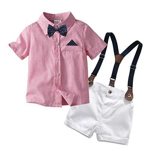 Happy Cherry - baby doop jongen pak ceremonie kleine kinderen zomer kledingset korte mouwen katoen gentihombre voor feestelijke bruiloft party - kinderen 0-4 jaar