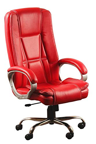 Nice Goods Executive Comfortable High Back Chair for Boss/Manager/Seniors Office Chair (Red)