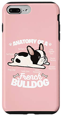 iPhone 7 Plus/8 Plus Pink French Bulldog Funny Anatomy Of A Frenchie Case