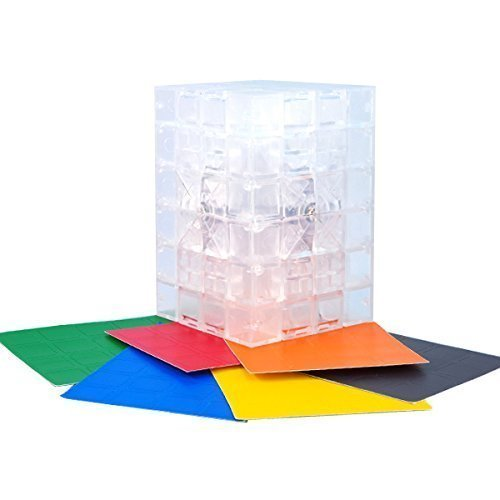 4x4x6   Transparent Clear Cuboid DIY Stickers Cube Twisty Toy 6x4x4 by Calvin's
