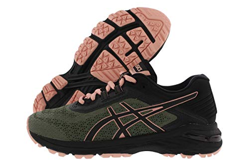 ASICS Women's GT-2000 6 Trail Running Shoes, 7M, Four Leaf Clover/Black/Coral C