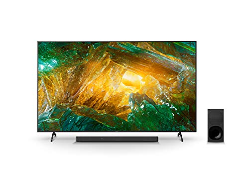 Sony KD-85XH8096 Bravia 215 cm (85 Zoll) (Android TV, LED, 4K Ultra HD (UHD), High Dynamic Range (HDR)) Schwarz + 3.1-Kanal-Soundbar mit Dolby Atmos (Surround Sound, Bluetooth) Schwarz
