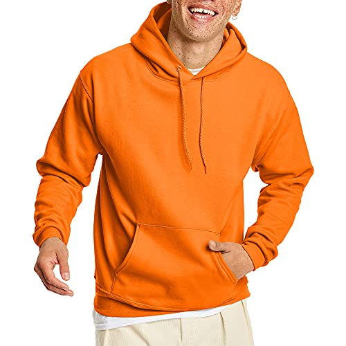 Hanes ComfortBlend EcoSmart Pullover Hoodie Sweatshirt Safety Orange 3X-Large