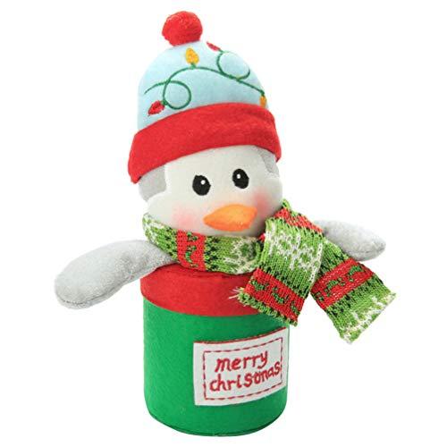 Happyyami Weihnachtsgeschenkkasten Süßigkeiten Halter Organisator Pinguin Aufbewahrungsbox für Cookies Keks Süßigkeiten