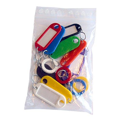 Wedo 26210 Sortiment Schlüsselanhänger (mit S-Haken 10 und Kennringe 5 Stück (aus Kunststoff) farbig sortiert
