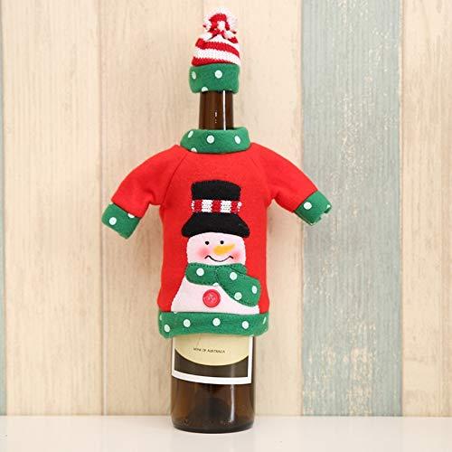 Decorazione natalizia per bottiglie di vino, per Natale, champagne, per cappello, maglione, cappotto, vestito, borsa per feste, decorazione per casa, ristorante, negozio, autunno inverno 2021 (A)