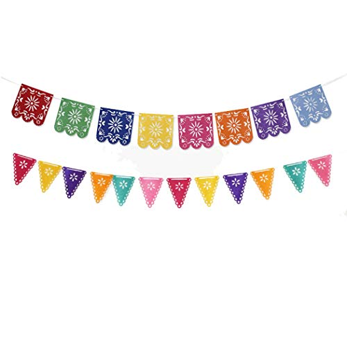 FunPa Party Banner, 2 sets Party Banner decoratieve holle Pinata Hema hangende Banner Bunting Banner
