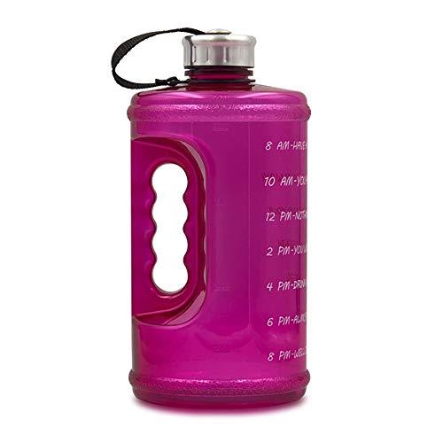 Festnight 2.2L Motivation Wasserflasche mit Zeitmarkierung Outdoor Camping Wandern Backpacking Fitness Workout Sportflasche Trinkflaschen
