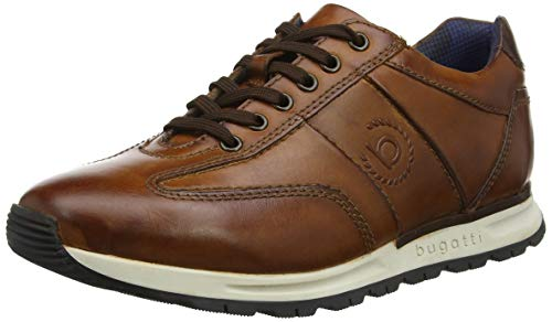 bugatti Herren 311819021100  Niedrig Sneaker,  Braun Cognac 6300,  43 EU