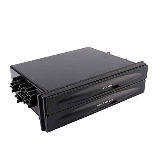 Keenso Universal Car Auto Doppel Din Radio Pocket Cd Radio Tasche Getränkehalter Aufbewahrungsbox