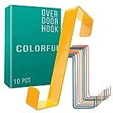 4smile colgador para puerta - juego de 10, coloridos - percheros puerta hechos...
