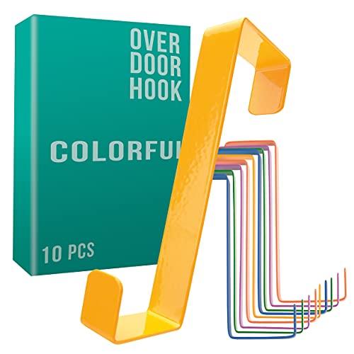 4smile colgador para puerta - juego de 10, coloridos - percheros puerta hechos en Alemania - organizador colorido para la...