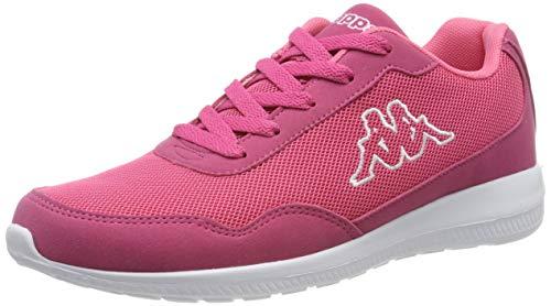 Kappa FOLLOW NC | Freizeit-Sneakers für Frauen und Männer | super-leicht, modisch und zeitlos | angenehmes Tragegefühl | atmungsaktiv, Farbe 2210 pink/white, Größe 38