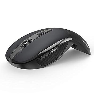 Folding Wireless Optical Mouse TECKNET 2.4G Por...