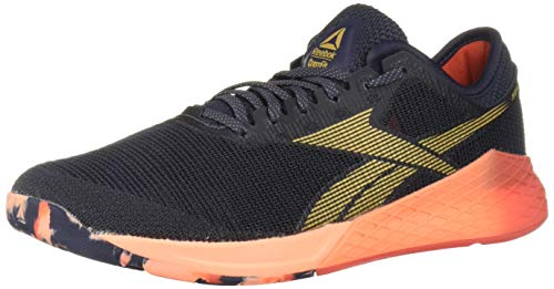 Reebok Men's Nano 9 Cross Trainer, Heritage Navy/Rosette/Sunglow, 12 M US