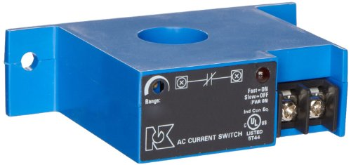 NK Technologies AS3-NCAC-FT AC Current Sensing Switch, Normally Closed, Solid-core, Top Terminal, 1-6, 6-40, & 40-175 Amp Input Range, AC Output