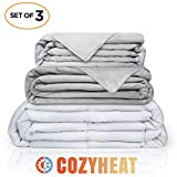 CARMA Premium Weighted Blanket Adult 18lbs, 3 Piece Set w/Minky...