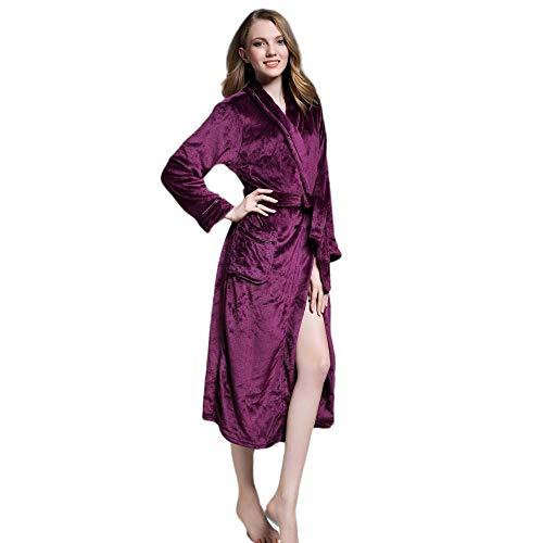 TaoRan flanel nachthemd dames herfst en winter warme Kimono badjas gewaad paar koraal fleece badjas