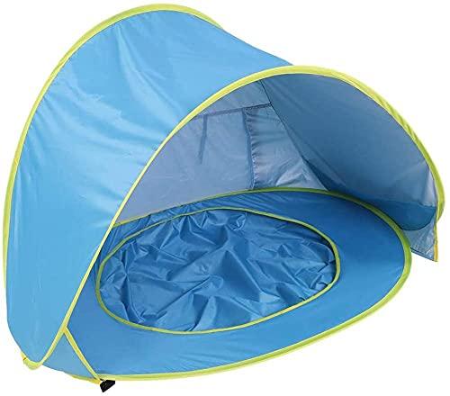 QPP-CL Tienda de Playa para bebés, con Piscina Poportable Poporte Playa Infantil Sombra de Playa Canopy Sun Shelter Impermeable, para Actividades al Aire Libre Camping de Playa