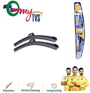 myTVS Frameless Wiper Blades for All Cars (Black)