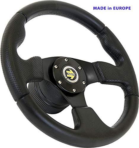 [TUV-5] Dorado Tuning Sportlenkrad/Lenkrad/Rallye/Drift/Rannen/Universal/Schwarz/Special Perforiertem Griffbereich (320mm) (320mm)