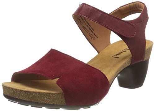 THINK! Damen Traudi_3-000300 nachhaltige Slingback Sandale mit Absatz, 5000 Rosso/Kombi, 38 EU