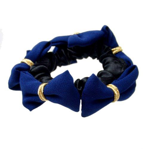 haglm564nnnbl [正規] ブルー [ヘアアクセサリー 【即日出荷】] (リトルムーン) 【ヘアゴム】 マルチプチリボン ブルー