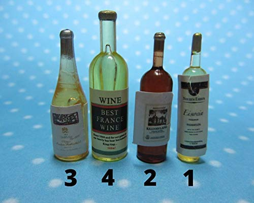 Silicone 3D-molds in the form of bottles of wine of different shapes and sizes (1:12). Molds for polymer clay and plastic.