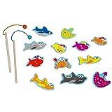 Scratch Rayar el Juego de Madera Peligroso Pescados de Juguete de Madera, Multicolor