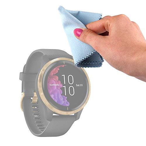 DURAGADGET Gamuza Limpiadora Compatible con Smartwatch Garmin Venu, SPC SMARTEE Feel, SPC SMARTEE Stamina, Zeblaze Vibe 5 HR - Mantenga Dispositivo Impecable