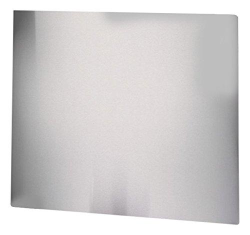 axentia 116616 Spritzschutz Herdblende - Küchenrückwand als Adeckplatte der Wand am Herd, Edelstahl, silber, 50 x 56.5 x 0.7 cm, 4 Einheiten