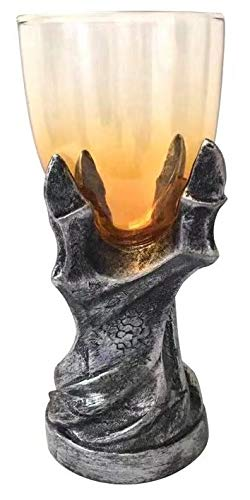 Officially Licensed Game of Thrones Dragonclaw Goblet - 12 oz Glass Dragonclaw Chalice Replica - Gothic, Medieval Novelty GoT Wine Glass- Barware
