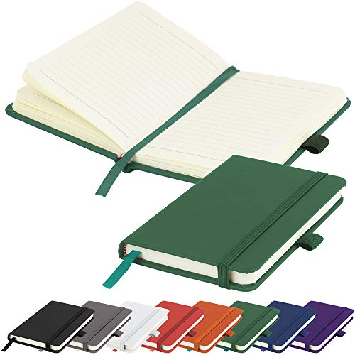 A6 Notebook New Small Pocket Hardback Lined Journal Notepad Note Book Pad...